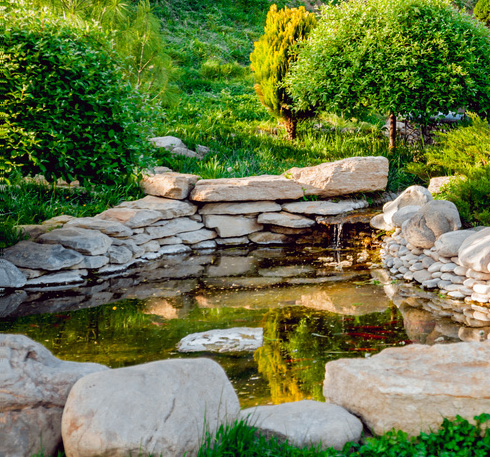 Bassins et Fontaines de Jardin à Annecy, Graine de Pierre